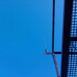 Looking up at VHF antenna